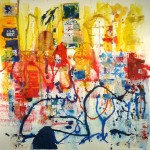Images of Nice 39 X 39 - Mixed Media on Paper