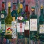 Les Vins XVI - 22 x 30 - Mixed Media on Paper
