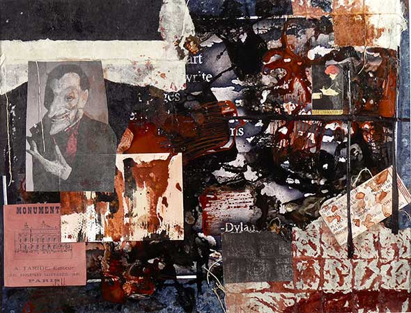 Library Walk XX Dylan Thomas 16 x 20 - Mixed Media on Photo