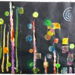 Night Sky 18 x 23 - Mixed Media on Paper - SOLD