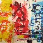 ROYFBIV-I 20 x 30 - Mixed Media on Paper