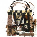 Shopping Bag VIII - Bronze/Black - 12 x 12 - Mixed Media on Panel - SOLD