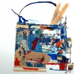 Shopping Bag XXIV - French Bread - 18 x 18 - Mixed Media on Canvas