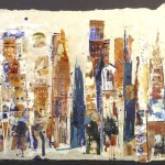 Urban Landscape II 18 x 22 - Mixed Media on Paper