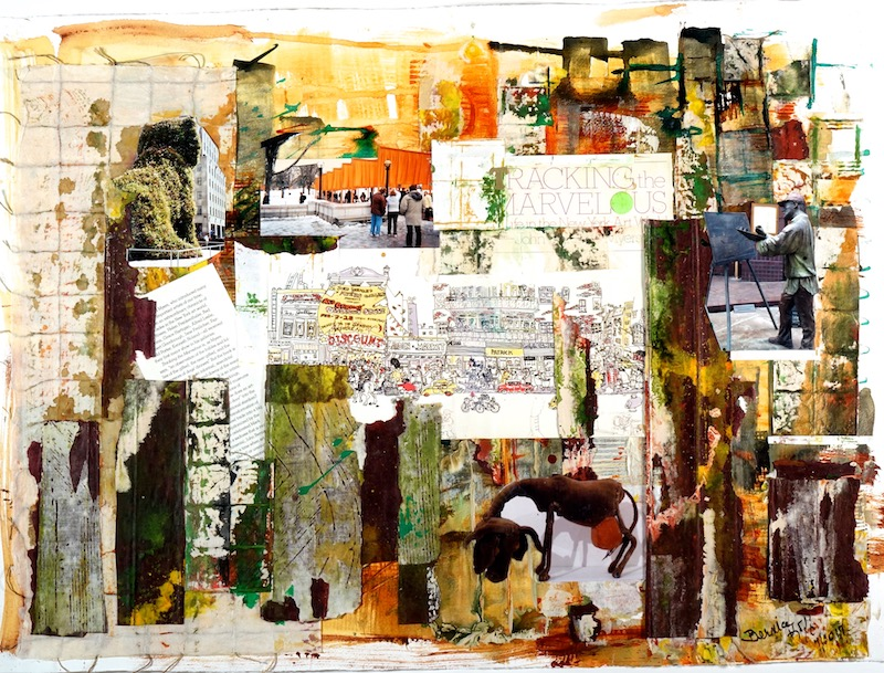 Book Jacket 12: Tracking the Marvelous 22 X 30 Mixed Media on paper for web
