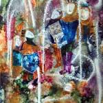 Le Vitrail: Chateau D'Amboise 26 x 20 - Acrylic on Yupo