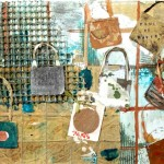 Love Locks II, Paris -10.5 x 13.5 - Mixed Media on Yupo